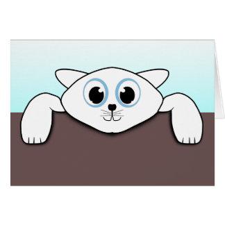 Carte Animation blanche mignonne d'illustration de chat