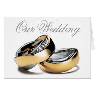 Carte Anneaux de couples, notre mariage