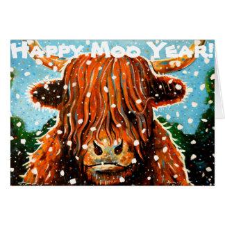 Carte Année heureuse de MOO