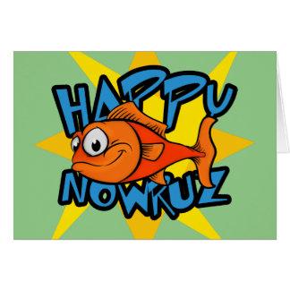 Carte Année persane de sourire Nowruz de Sun de poisson