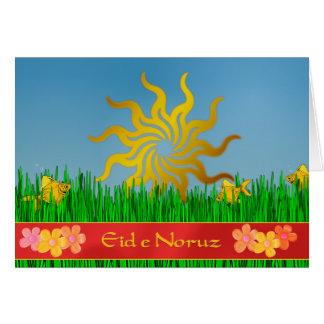 Carte Année persane d'Eid e Noruz nouvelle