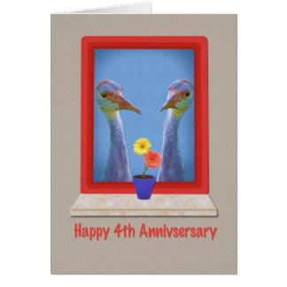 Carte Anniversaire, 4ème, oiseaux de grue