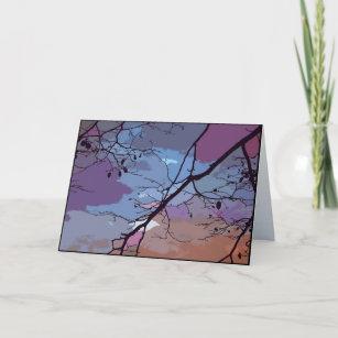 Carte Anniversaire abstrait de coucher du soleil