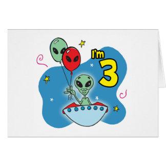 Carte Anniversaire d'alien d'UFO 3ème