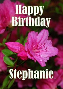 Cadeaux Joyeux Anniversaire Stephanie Zazzle Be