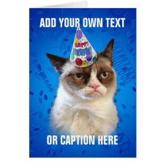 Carte Anniversaire de Customizeable de chat grincheux
