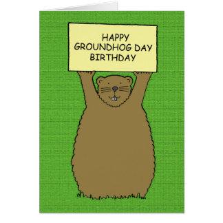 Carte Anniversaire de jour de Groundhog