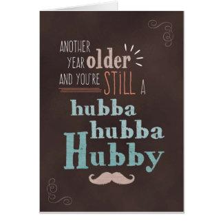 Carte Anniversaire de mari, tableau de mari de