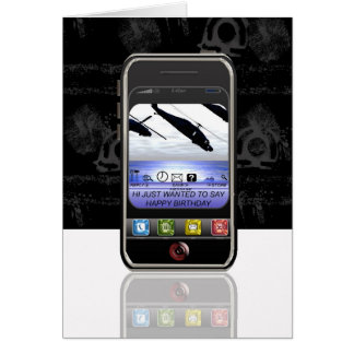 Carte anniversaire de message textuel de téléphone