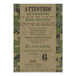 Carte Anniversaire de militaires de camouflage de jungle