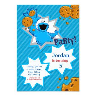 Carte Anniversaire de monstre de biscuit