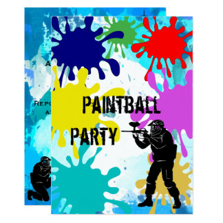 Carte Anniversaire de Paintball 13ème