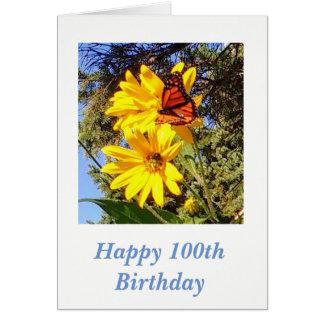 Carte Anniversaire de papillon 100th