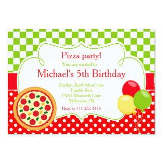 Carte Anniversaire de partie de pizza