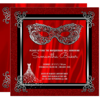 Carte Anniversaire de sweet sixteen de rouge de la