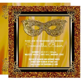 Carte Anniversaire de sweet sixteen d'or de la mascarade