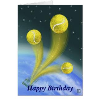 Carte Anniversaire de victoire de tennis joyeux