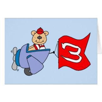Carte Anniversaire d'ours de pilote de Lil 3ème