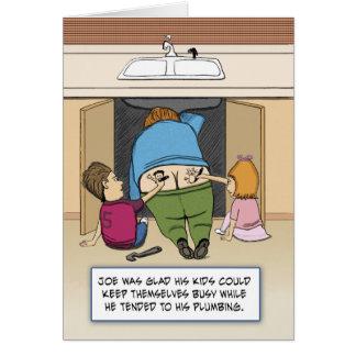 Carte Anniversaire drôle : Joe le plombier