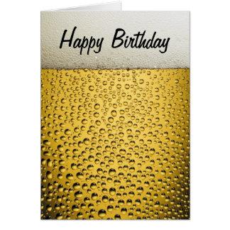 Carte Anniversaire en verre de bière joyeux