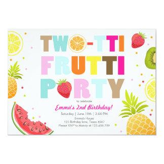 Carte Anniversaire fruité de Tutti d'invitation de