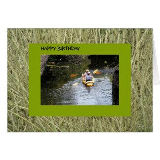 Carte Anniversaire, Kayakers supérieurs