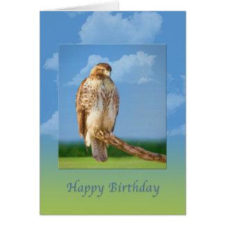 Carte Anniversaire, oiseau à jambes rugueux de faucon