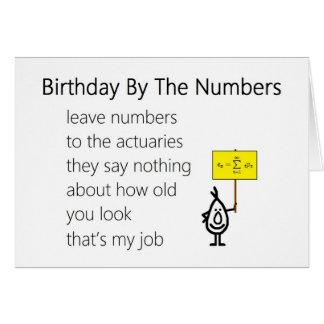 Carte Anniversaire par les nombres - un poème drôle