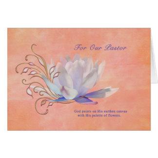 Carte Anniversaire, pasteur, nénuphar, religieux