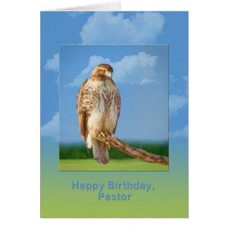 Carte Anniversaire, pasteur, oiseau à jambes rugueux de