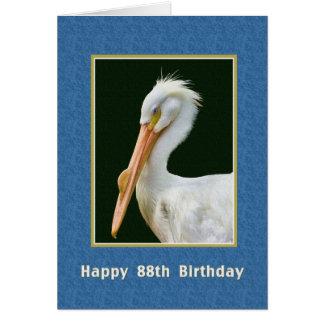 Carte Anniversaire, quatre-vingt-dix-huitième, oiseau