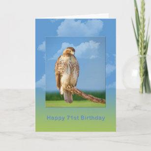 Carte Anniversaire, soixante-et-onzième, oiseau à jambes eb1726b3884