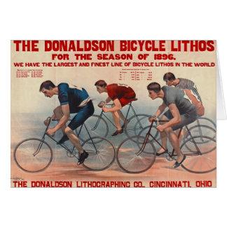 Carte Annonce 1896 de Lithos de bicyclette