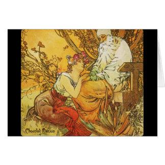 Carte Annonce c1900 de Chocolat Masson