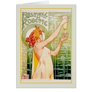 Carte Annonce d'absinthe
