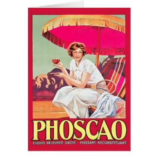Carte Annonce de Phoscao avec le joueur de tennis
