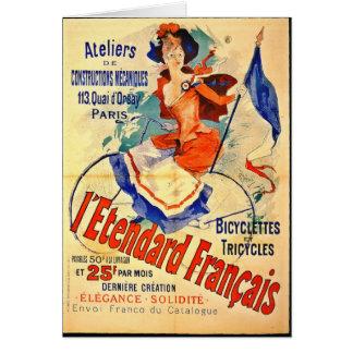 Carte Annonce française vintage 1891 de bicyclette