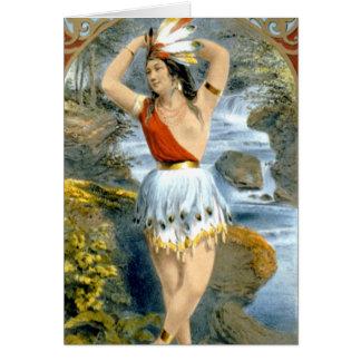 Carte Annonce vintage de Natif américain de Pocahontas