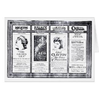 Carte Annonces 1921 de film silencieux de Mae Murray