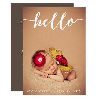 Carte Annonces de naissance de photo de bébé ou de fille