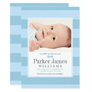 Carte Annonces de naissance de photo | notre petit homme