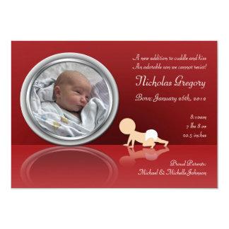 Carte Annonces de rampement de naissance de réflexion de