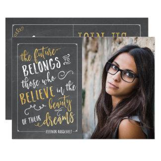 Carte Annonces modernes d'obtention du diplôme de photo