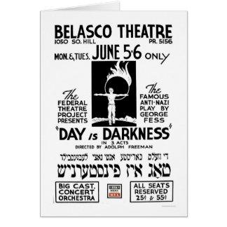 Carte Anti- jeu Yiddish WPA 1939