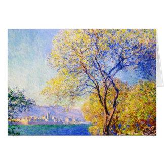 Carte Antibes vu du Salis fait du jardinage Claude Monet