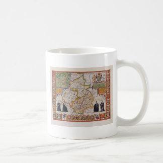 Carte antique de Cambridge Mug Blanc
