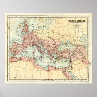 Carte antique de l'empire romain