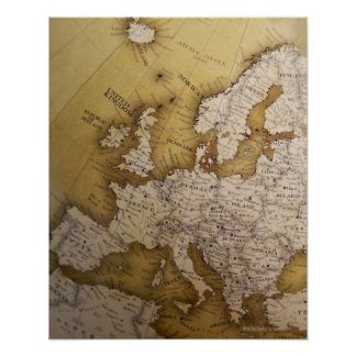 Carte antique de l'Europe. Vieux monde