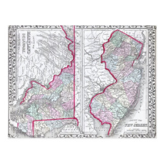 Carte antique du Maryland, de New Jersey, et du