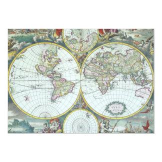 Carte antique du monde, Frederick De Wit
